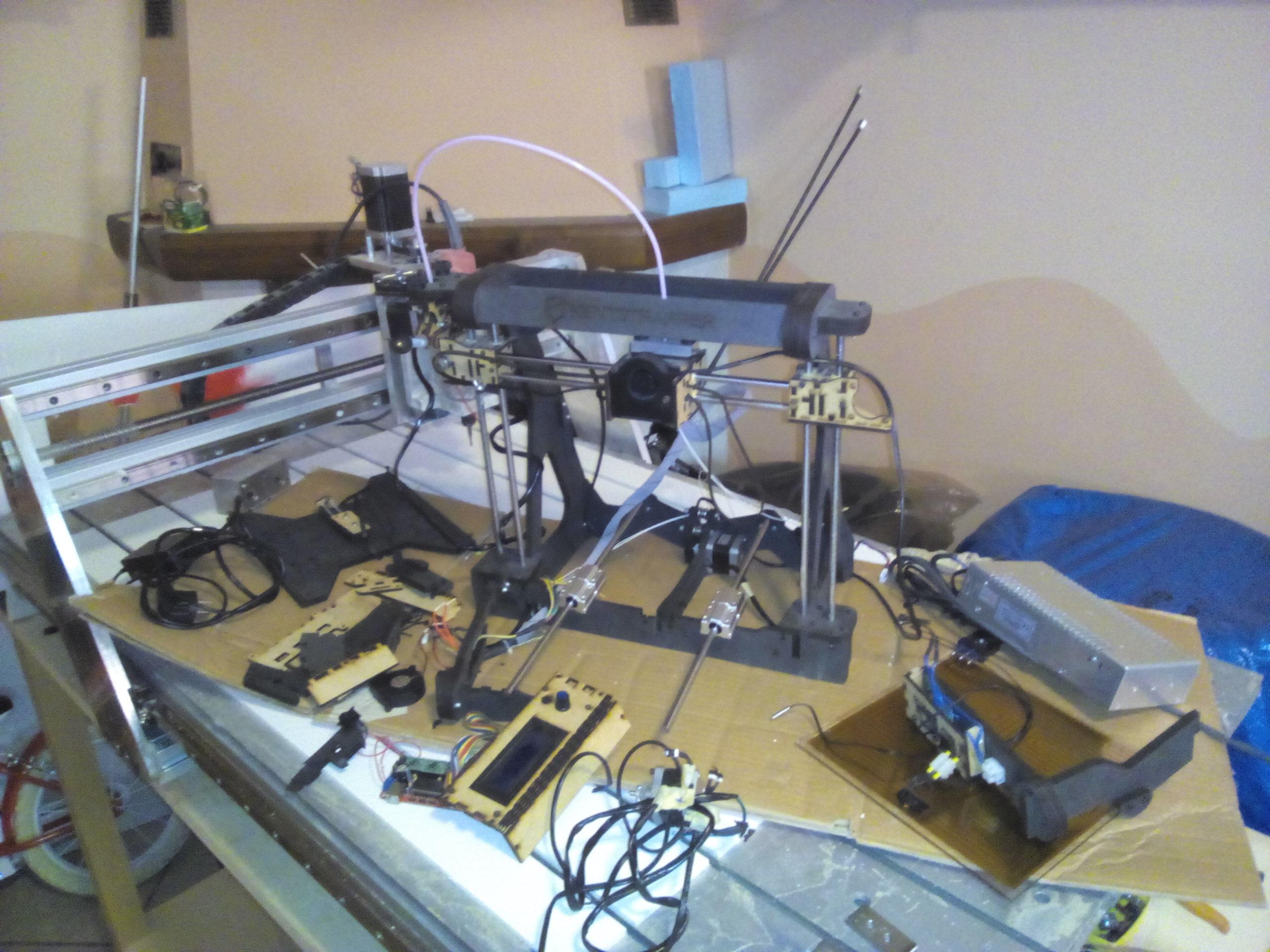 KENTSTRAPPER GALILEO SMART STAMPANTE 3D AGGIUSTATA CON FRESA CNC
