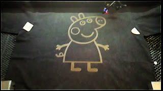 PEPPA PIG PROVA DI INCISIONE LASER SU MAGLIETTA