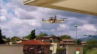 PROVA DRONE TAGLIATO AL LASER CON NAZA LITE